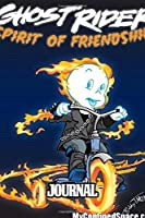Journal: Ghost Rider Soft Glossy Journal with Ruled Lined Paper for Taking Notes Writing Workbook for Teens and Children Students School Kids Inexpensive Gift For Boys and Girls