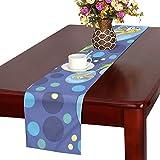 GGSXD テーブルランナー 首の長いキリン クロス 食卓カバー 麻綿製 欧米 おしゃれ 16 Inch X 72 Inch (40cm X 182cm) キッチン ダイニング ホーム デコレーション モダン リビング 洗える