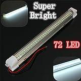 SOLMORE 車内用テープライト LEDライト ストリップランプ ホワイト DC 12V ON / OFFスイッチ付き 車を飾る