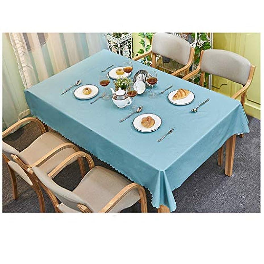 トピック自分のためにフレームワークGX テーブルクロス- 防水オイルプルーフアンチスケーリング綿とリネンテーブルクロス、ソリッドカラー屋外レストラン長方形プレースマット,新しい (色 : Gray-blue, サイズ : 90*150 cm)