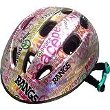 ラングスジャパン (RANGS) ラングスジュニアスポーツヘルメット ピース シルバー/ピンク SG規格合格品