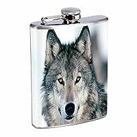 ウルフフラスコd38オンスステンレススチールWolves Wilderness動物犬Predatorハンター