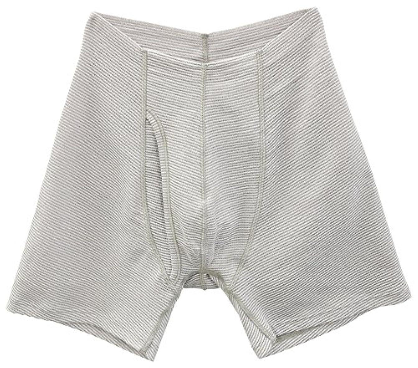 ピンポイント自動回復するSIDO(シドー) 包帯パンツ 前開きゴムなしパンツ 冷涼タイプ ライトグレー LL(94~104cm) 1063