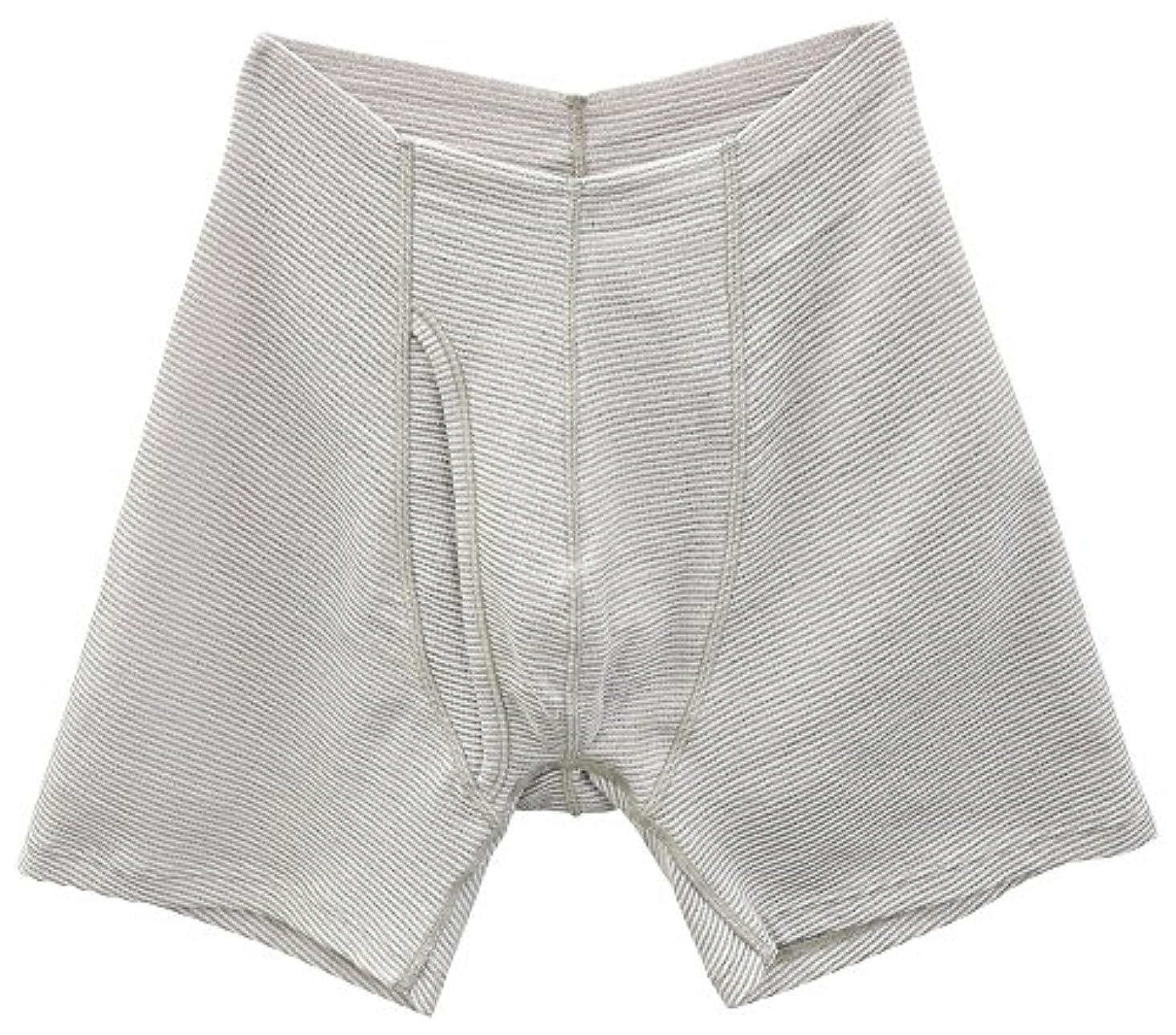 誠意誠意方言SIDO(シドー) 包帯パンツ 前開きゴムなしパンツ 冷涼タイプ ライトグレー LL(94~104cm) 1063