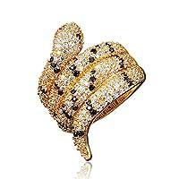 きらきら 金メッキ スターリング 丸みを帯びた 蛇 スネーク指輪 バンド ファッション アクセサリー レディース メンズ お守り (11)