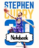 Notebook: Notebook Golden State Warriors Klay Curry Cute Drawing Photo Art Incredible Soft Glossy College Ruled Fantastic with Ruled Lined Paper for Taking Notes Writing Workbook for Teens and Children Students School Kids NBA Fan