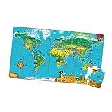 LeapReader/Tag World Map Jumbo Puzzle リープリーダー・TAG専用教材 ワールド・マップ ジャンボパズル (レベル5)