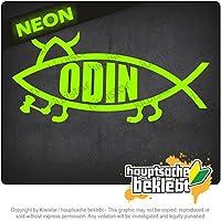 オーディンフィッシュ Odin fish 15cm x 6cm 15色 - ネオン+クロム! ステッカービニールオートバイ