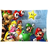 Generic Mario LuigiテーマDIY長方形カスタムファスナー付きPillowslips枕カバー標準サイズ20x 30インチ両側 - Best Reviews Guide
