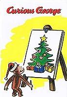 おさるのジョージ(キュリアスジョージ) クリスマスポストカード イーゼル【即日・翌日発送】