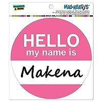 マケナこんにちは、私の名前は - サークル MAG-格好いい'S(TM)カー/冷蔵庫マグネット