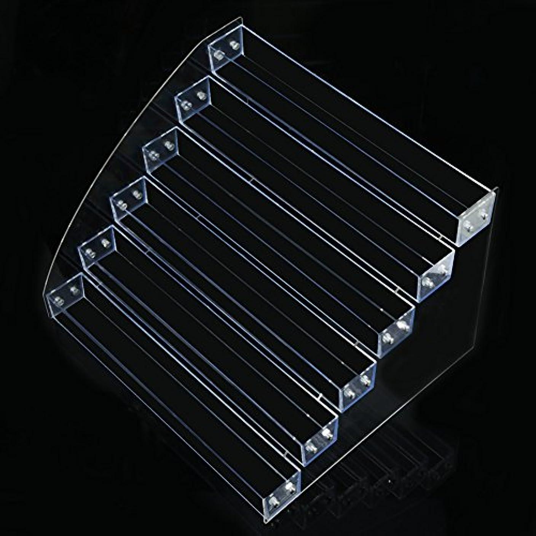 スポーツの試合を担当している人スクワイアスキムネイルポリッシュディスプレイマルチレイヤプラスチック透明ネイルアートスタンド(5)