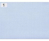 1m1青氷のポルカドットを和らぎコットン生地と、生地