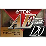 TDK AE120 録音用カセットテープ 120分 ノーマル