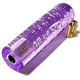 クリスタル 泡 バブル 入り ラウンド 丸型 シフトノブ カーパーツ エクステンション ネジ口径 12mm 10mm 8mmと調節可能 AT MT 車 対応 全長 15cm 紫