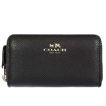 [コーチ] COACH 財布(コインケース) F63921 ブラック ラグジュアリー クロスグレーン レザー スモール ダブル ジップ コインパース メンズ レディース [アウトレット品] [ブランド] [並行輸入品]