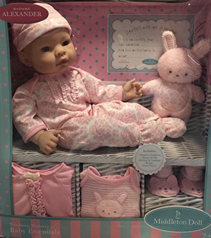 Madame Alexander Middleton 16インチ新生児Nurseryベビー人形ピンク新生児用品一式セット