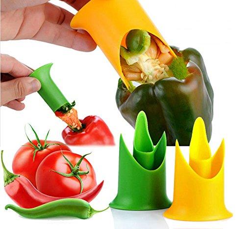 (ココ)COCO キッチン ピーマン パプリカ 野菜 芯 抜き マジック ショベル タネ と 芯 をまるごと 抜き取り