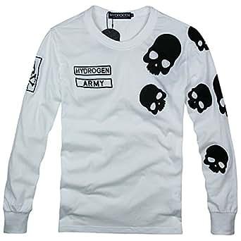 (ハイドロゲン)HYDROGEN ロンT 長袖 Tシャツ メンズ スカル ホワイト XL 並行輸入品