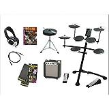 Roland(ローランド)V-drums コンパクト電子ドラム TD-1K-3SET(小型アンプ、教則DVD、ペダル用マット、ヘッドフォン、椅子、スティック、外部機器接続ケーブル)