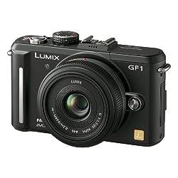Panasonic デジタル一眼カメラ GF1 レンズキット(20mm/F1.7パンケーキレンズ付属) エスプリブラック DMC-GF1C-K