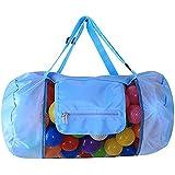1個おもちゃ入れ袋 お砂場バッグ ブルー