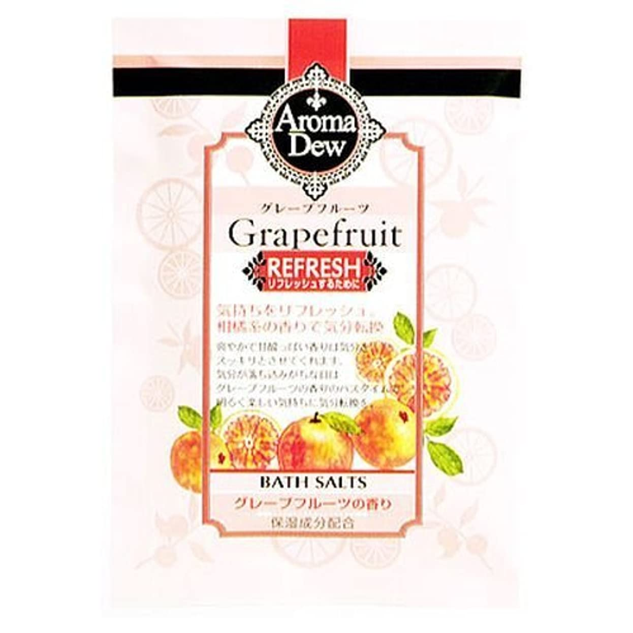 健康社会科メルボルンクロバーコーポレーション アロマデュウ バスソルト グレープフルーツの香り グレープフルーツ
