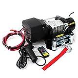 電動ウインチ 12V 5000LBS(2268kg) 無線リモコン付属 電動 ウインチ オフロード車 トラック SUV車(ZeepやFJクルーザー等) 防水仕様