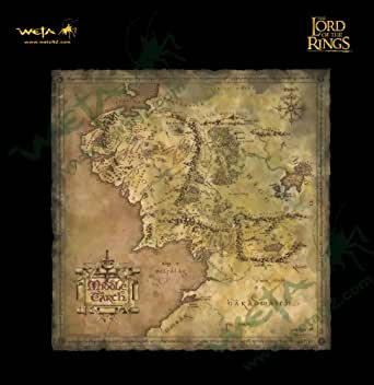 THE LORD OF THE RINGS PARCHMENT MAP OF MIDDLE-EARTH ロード・オブ・ザ・リング 中つ国の地図 アートプリント
