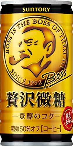 ボス(BOSS) 贅沢微糖 豊醇のコク 缶 185ml