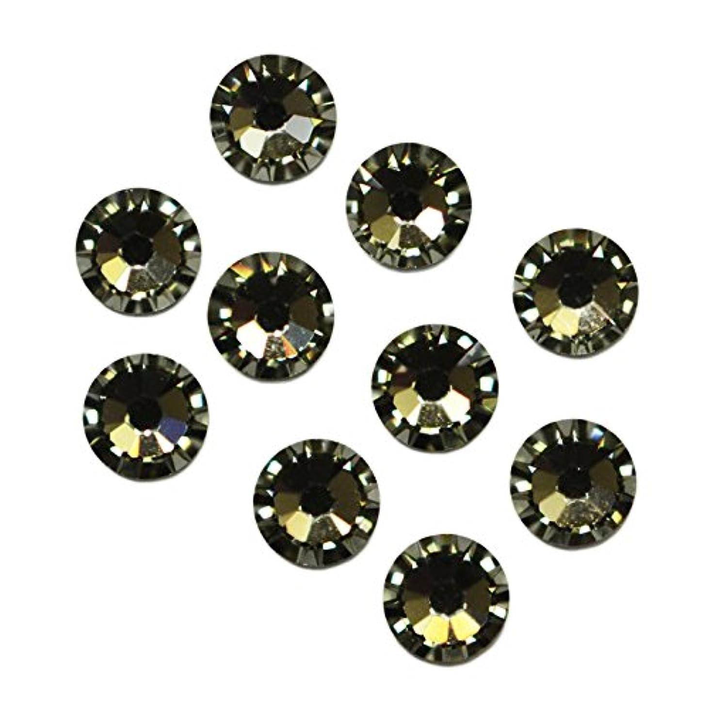コック石化する口スワロフスキーエレメント ブラックダイヤ /フラットバック ノンホットフィックス (ss3/40粒)