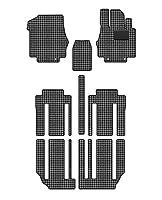 Hotfield 日産 新型 セレナ C27系 (ガソリン車) フロアマット 千鳥格子柄 千鳥グレー 【D:フロント分割:パーツ一体/超ロングスライド仕様】