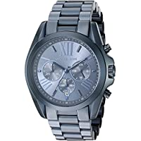 Michael Kors Women's Bradshaw Navy IP Chronograph Watch