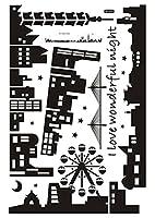 パール金属 ウォールステッカー Wonderful Night AY-925 N-8358