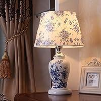 現代新しい中国スタイルのデスクランプベッドサイドベッドルームリビングルームセラミックランプ