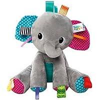Bright Startsタグ' n Play Pals Gray Elephant Taggies