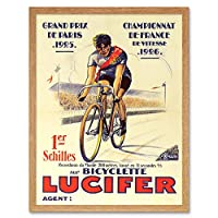 Lucifer Cycles Grand Prix Only Art Print Framed Poster Wall Decor 12X16 Inch 大ポスター壁デコ