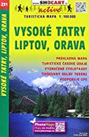 SC 231 Vysoke Tatry, Liptov, Orava 1:100T: Shocart Wanderkarte
