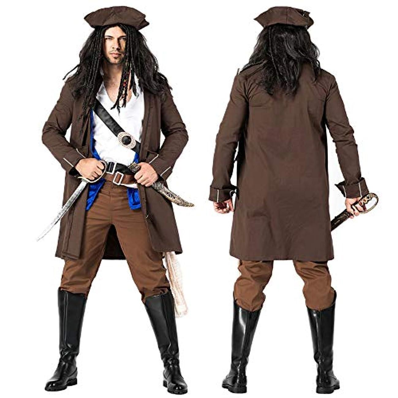 一節便益労働【 本格的 】monoii 海賊 キャプテン 帽子 コスプレ 男性 ハロウィン 衣装 大人 コスチューム メンズ 503