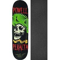 Powell-Peralta TE チンガステ ブラック/グリーン / レッド スケートボードデッキ - 8.25インチ x 31.95インチ ブラックマジックグリップテープ付き - 2個セット