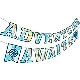 旅行パーティーデコレーションバナーSupplies for Adventure Awaits Going Awayパーティーデコレーション