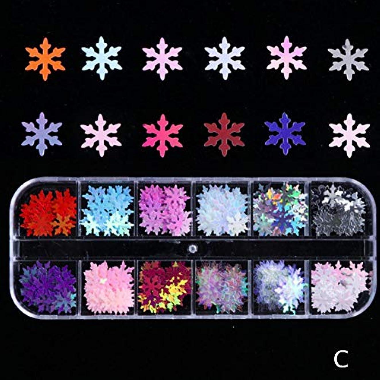 スペイン厄介な盗難BETTER YOU (ベター ュー) ネイルアートデコレーションスパンコール、クリスマスシリーズ、スノーフレークスパンコール、多色