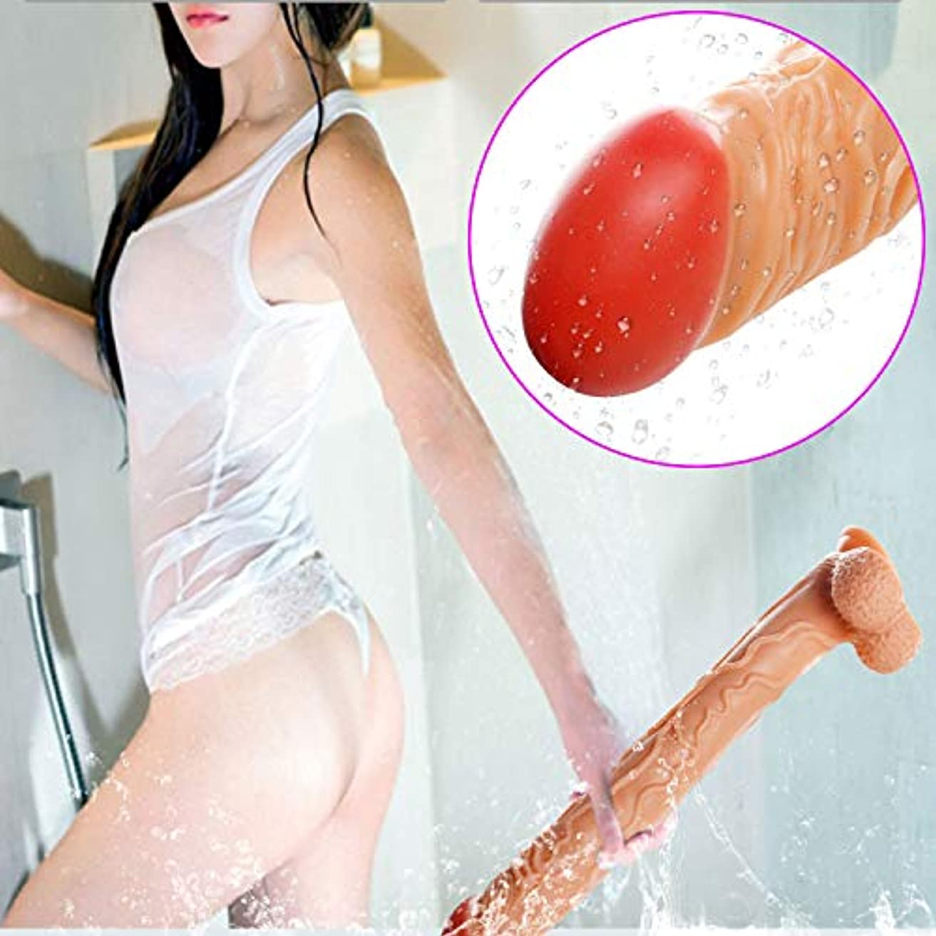 過半数山お香FHLJ 16.4インチの過剰シリコン?î`ld?s 'MasssǎgerWand Topnotch Personal Body Massage Wand