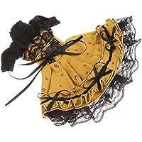 Blesiya 1/6 BJD BBガール用 人形ドール服 パフスリーブ プリーツドレス ワンピース ヘアバンド アクセサリー おしゃれ