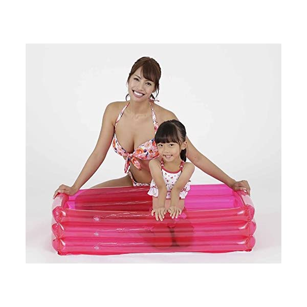 ドウシシャ ビニールプール 角形 ピンク 100cmの紹介画像2