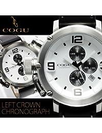 コグ COGU メンズ腕時計 逆リューズ クロノグラフ C61 WH 正規品