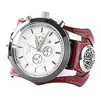 デイズアート DaysArt 腕時計 メンズ クロノグラフ 本革 サドルレザー イタリアンレザー ブレスウォッチ DAコンチョ 生活防水 蓄光 箱付き