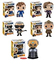 Doctor Who 10th Doctor with Hand、11th Doctor as Mr。Clever、12th Doctor , War Doctor , Davros 6-inch Pop 。Vinyl Figures Set of 5