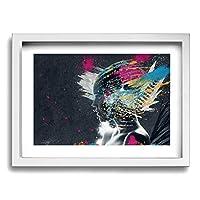 ホワイトサン アート 女性 フォトフレーム フレーム 壁掛け 壁アート 装飾画 壁飾り インテリア 部屋飾り アート ファション 装飾 枠付き 壁絵 現代壁の絵 絵 プレゼント ポスター アートフレーム パネル 30*40