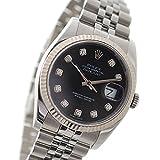ROLEX【ロレックス】 デイトジャスト メンズ腕時計【中古】 ref.116234G V番 SS/K18WG 10Pダイヤ ブラック文字盤 自動巻き デイト機能【新品仕上げ・オーバーホール済】